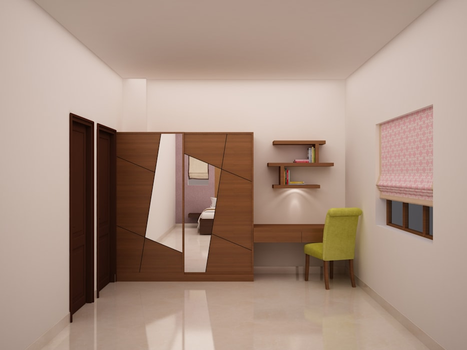 Wardrobe And Study Table Bedroom By Nvt Quality Build Solution Homify