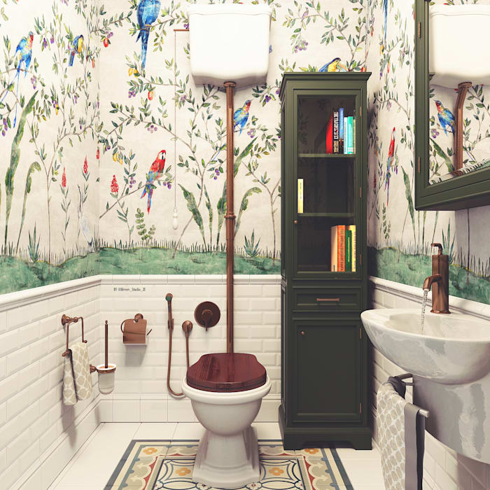 Mediterranean style bathroom by Diveev_studio#ZI Mediterranean