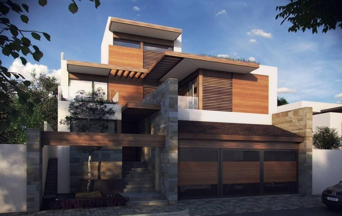 TALLER DE ARQUITECTURA 2A Casas modernas Madeira Multi colorido