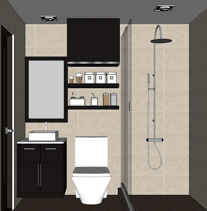 2015 PROJECTS Modern bathroom by MKC DESIGN Modern