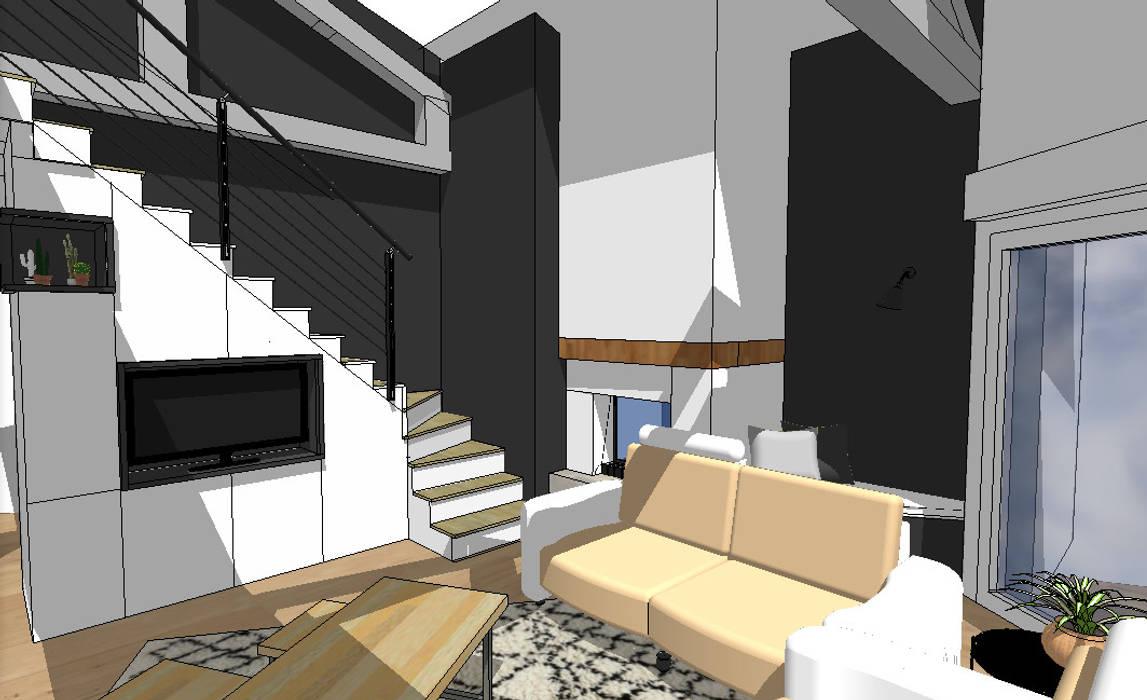 Le Futur Salon Avec Meuble Sur Mesure Sous Escaliers