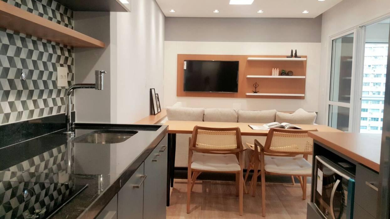Comedores de estilo moderno de ICONO Projetos e Interiores Moderno