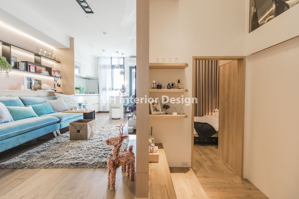 士林黃公館:  走廊 & 玄關 by VH INTERIOR DESIGN