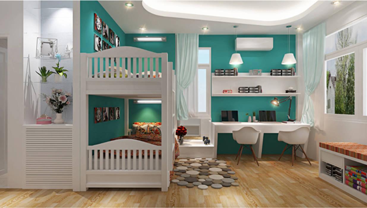 Phòng ngủ dành cho con:  Phòng ngủ by Công ty TNHH Xây Dựng TM – DV Song Phát