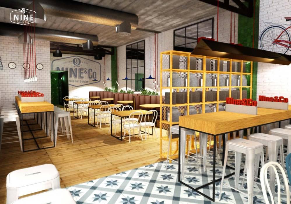 NINE bar: Bares y Clubs de estilo  de Muka Design Lab