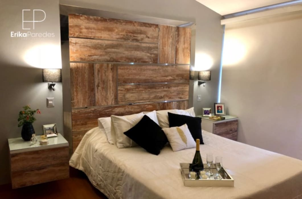Dormitorio Rustico y Moderno Dormitorios de estilo rústico de homify Rústico