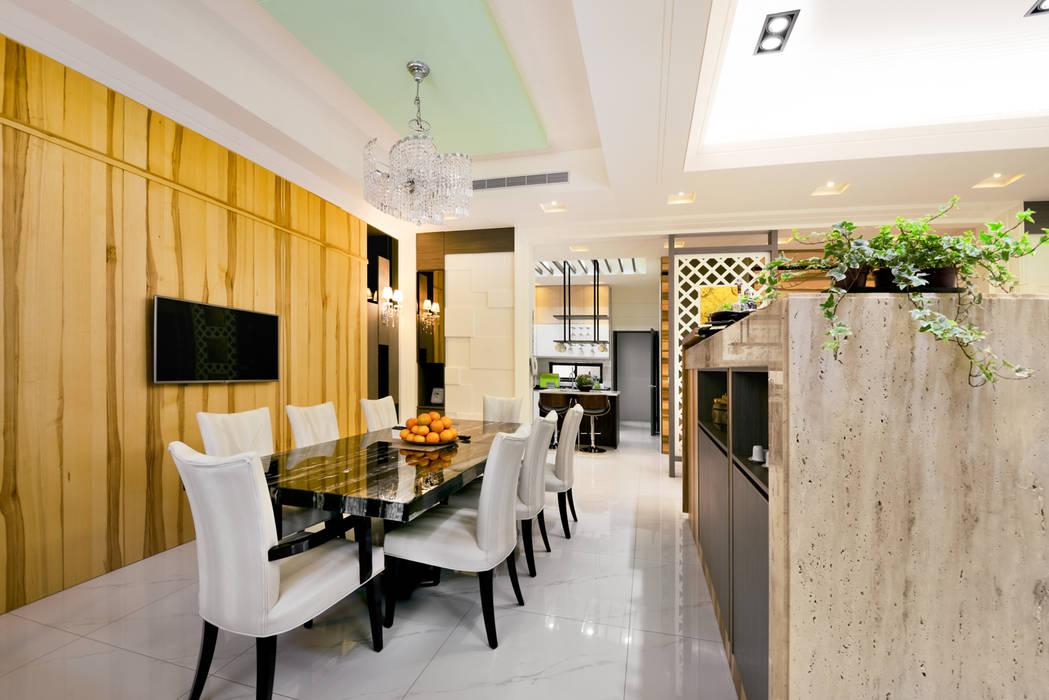 新竹寶山鄉 葉公館 築室室內設計 现代客厅設計點子、靈感 & 圖片