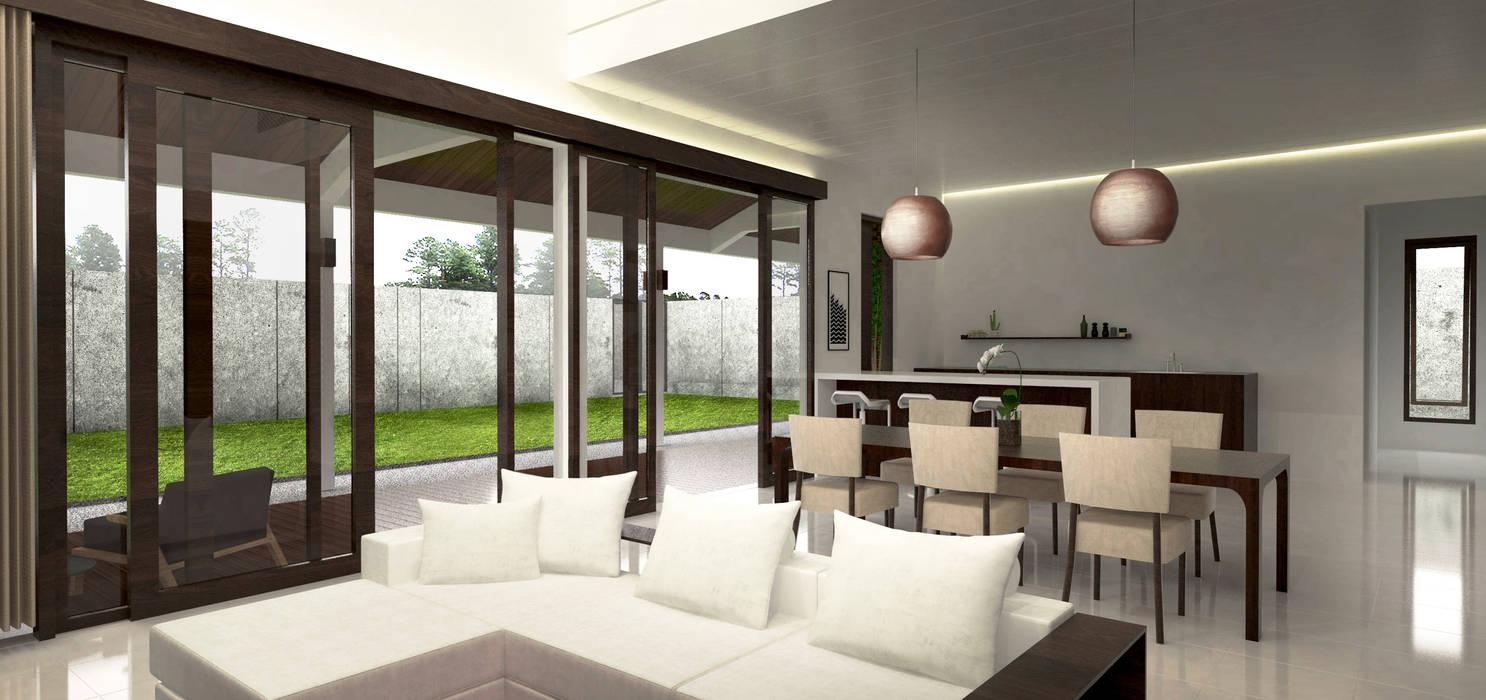 Living Area:  Ruang Keluarga by Lukemala Creative Studio