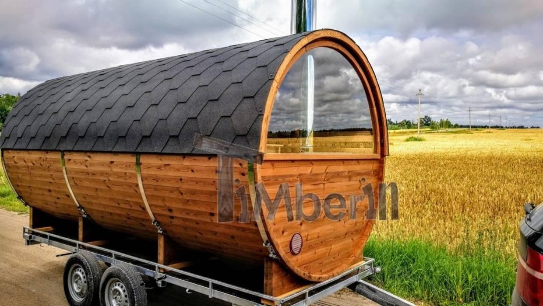 Sauna Extérieur Avec Remorque Vestiaire Et Poêle à Bois