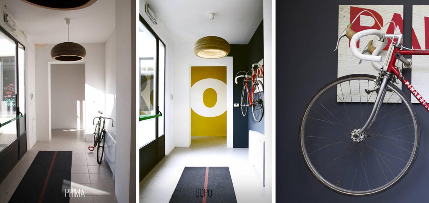 Corridoio PRIMA e DOPO: Complessi per uffici in stile  di Rifò