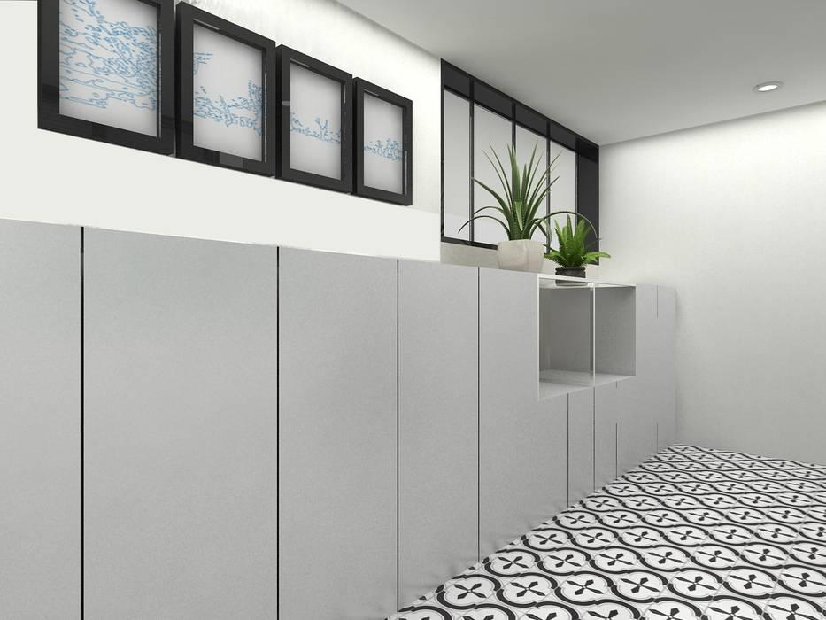Korea - Apartment Interior Design Yunhee Choe راهرو مدرن، راهرو و راه پله White