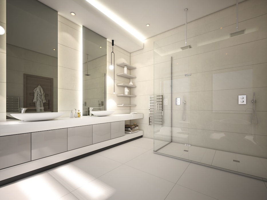 En Suite Bathroom:  Bathroom by Dessiner Interior Architectural, Modern