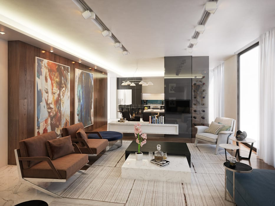 Contemporary Pretoria Residence Modern living room by Dessiner Interior Architectural Modern