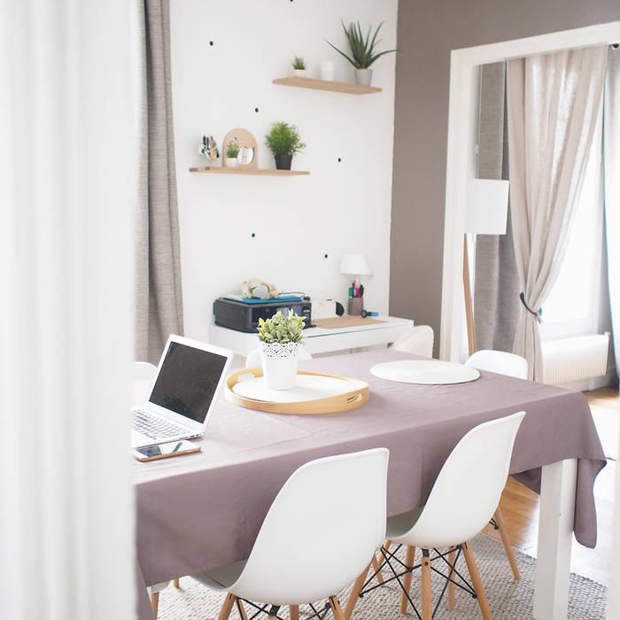 Salle à manger également espace de travail: Salle à manger de style de style Scandinave par B.Claire.full Design