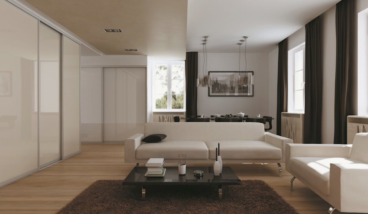 CARE MOBILIARIO MADRID,S.L. Minimalist dressing room Glass White