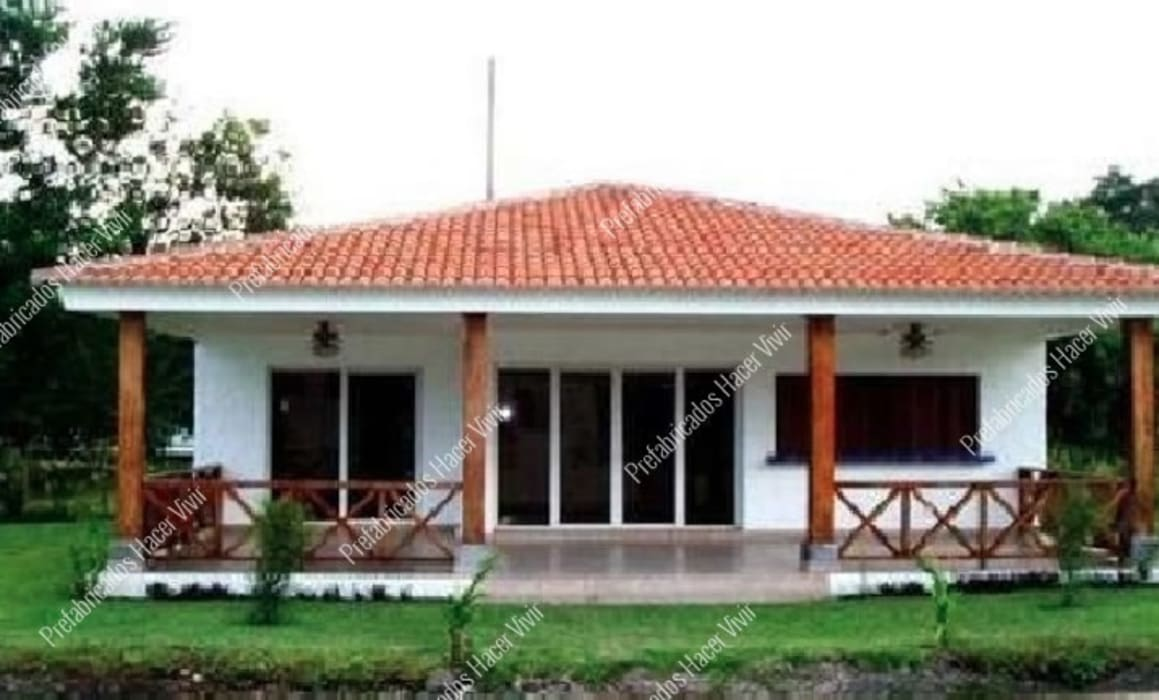 Casas prefabricadas : Casas prefabricadas de estilo  por Prefabricados Hacer Vivir, Rural Concreto