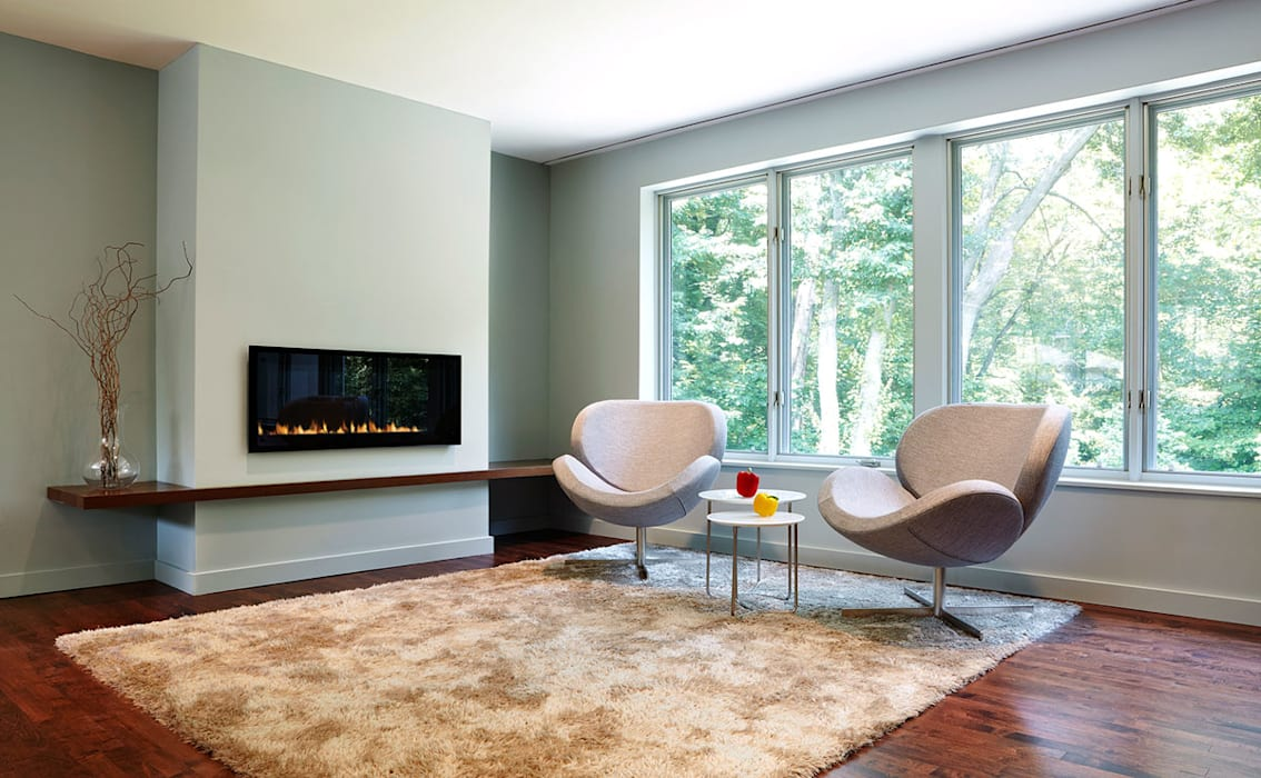 East Jefferson Modern Living Room by KUBE Architecture Modern