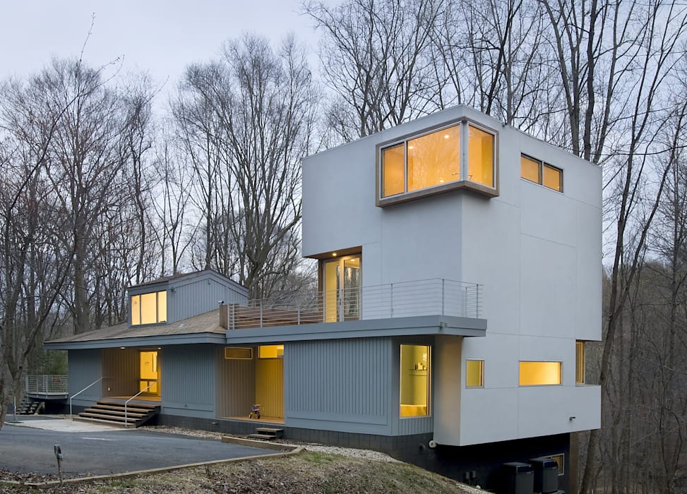 Forest House Modern Houses by KUBE Architecture Modern