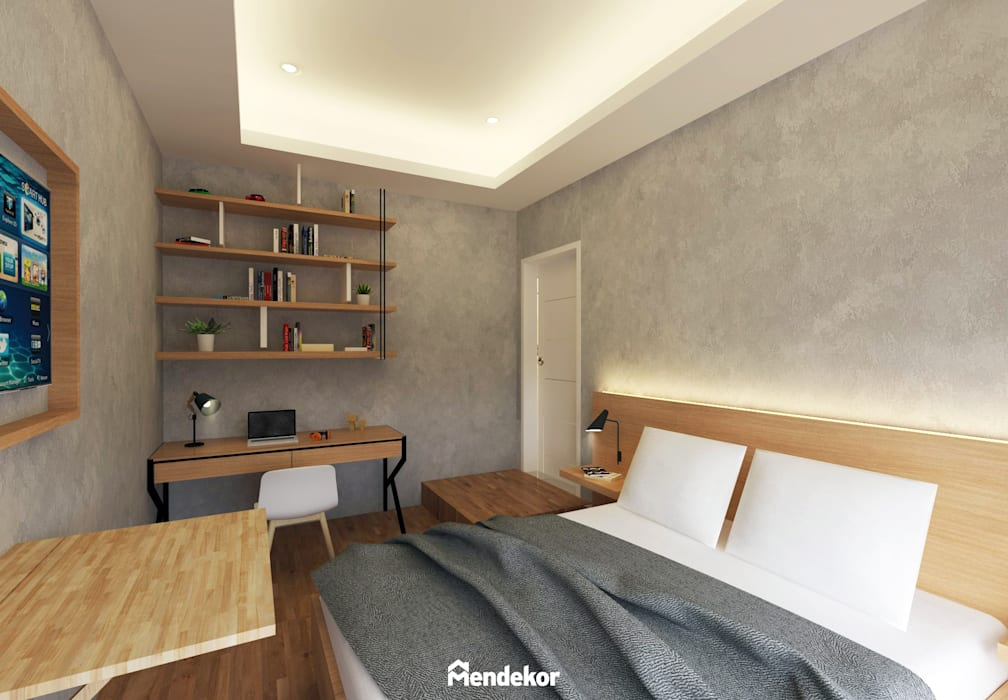1st Bedroom Kamar Tidur Modern Oleh Mendekor Modern Kayu Lapis