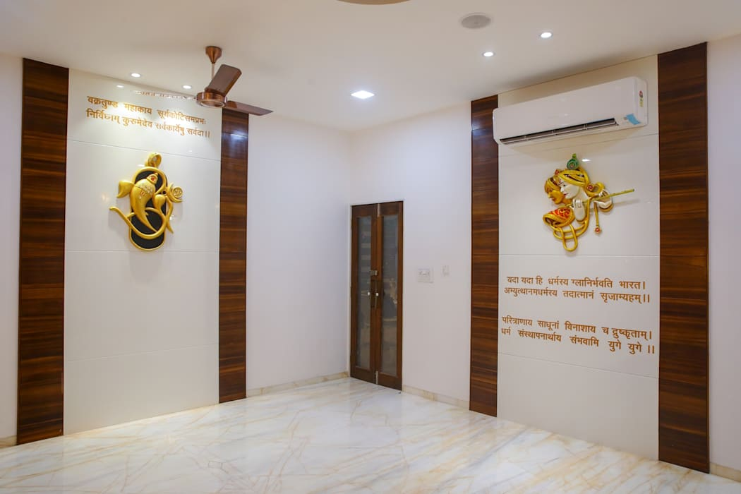 Pooja room: artwork by zeal arch designs | homify