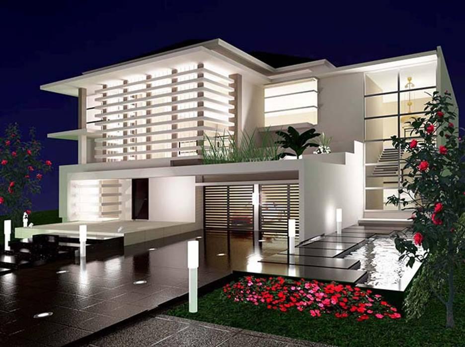 Rumah Tinggal 2 Lantai Kemang: Rumah oleh Adhicitta Karya Megah,