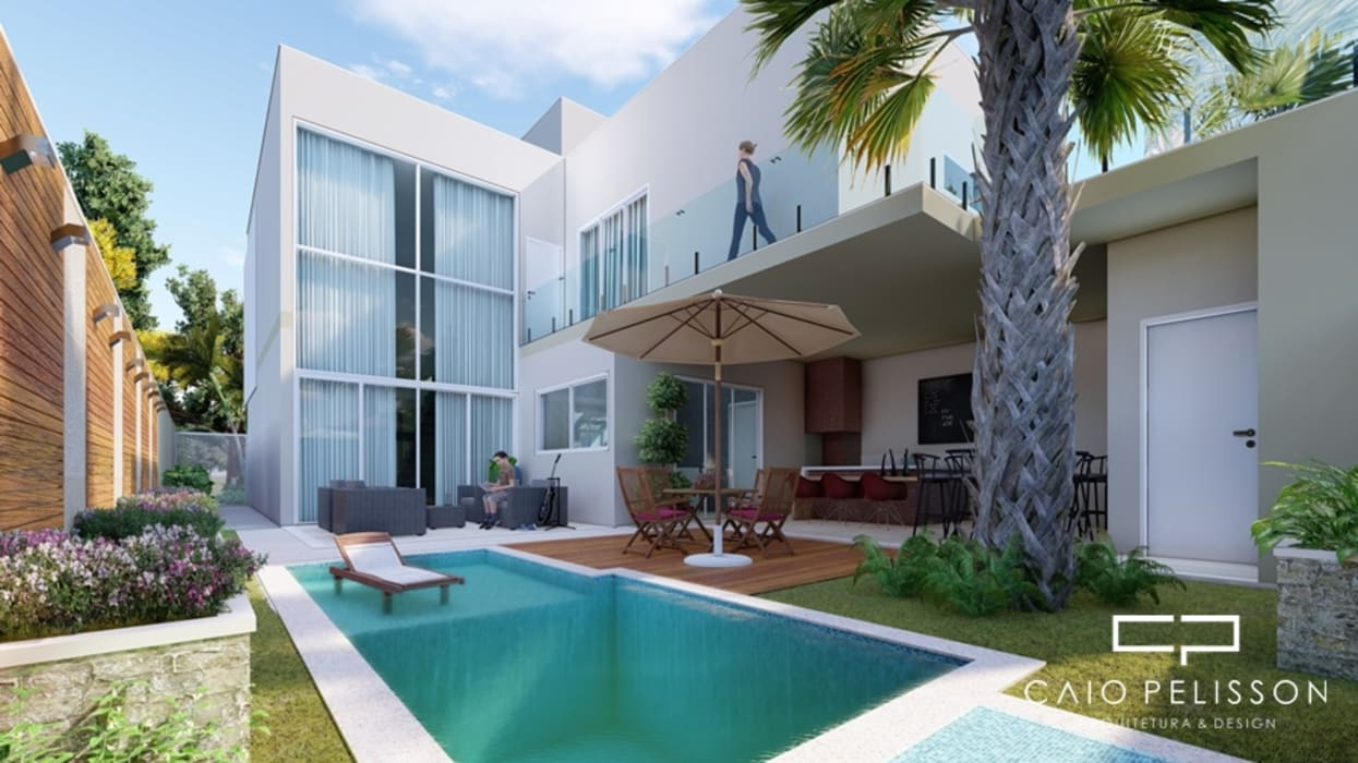 Casa Moderna Sobrado Piscinas Modernas Por Caio Pelisson