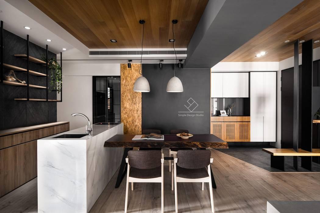 用餐空間:  餐廳 by 極簡室內設計 Simple Design Studio