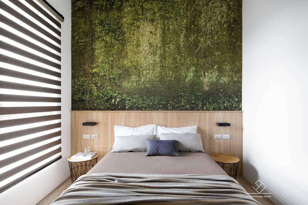 臥室設計:  臥室 by 極簡室內設計 Simple Design Studio