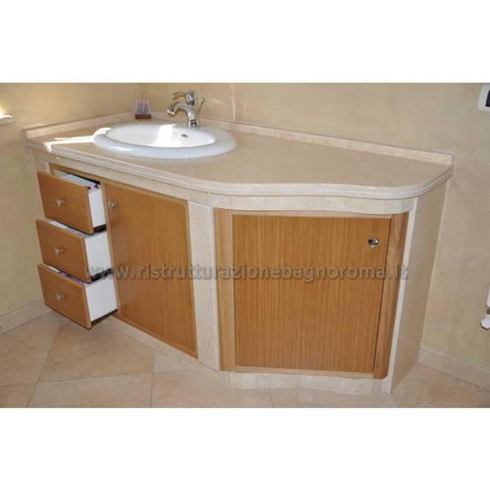 ristrutturazione bagno roma Classic style bathroom Marble Beige