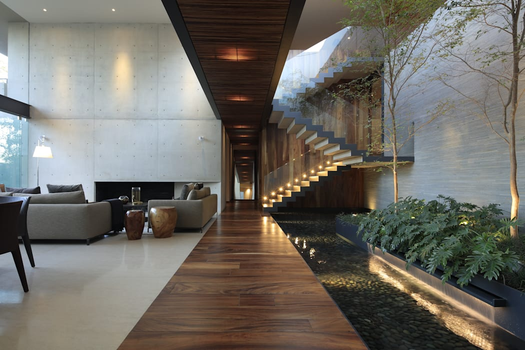 HNN HOUSE Hernandez Silva Arquitectos Salones modernos