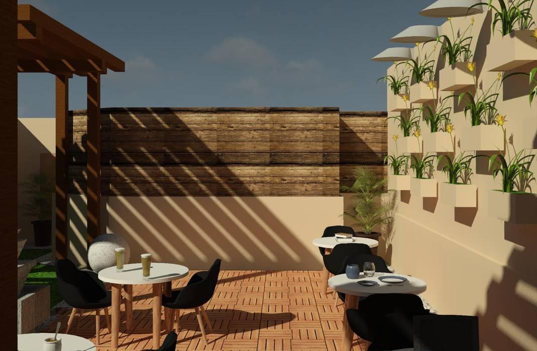 Moderner Balkon, Veranda & Terrasse von Perfil Arquitectónico Modern