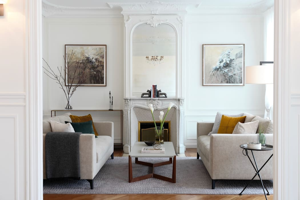 Parisian chic decoration and design: Salon de style de style Moderne par Lichelle Silvestry