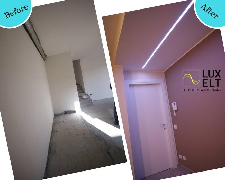 Illuminazione a led lineare per soggiorno: Soggiorno in stile in stile Moderno di Luxelt