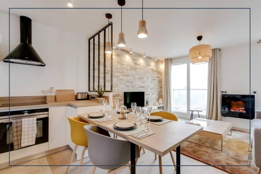 Un 63m2 en VEFA twisté à Paris: Cuisine de style de style Moderne par MY HOME DESIGN