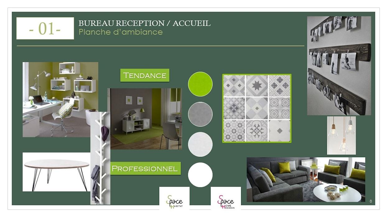PLANCHE TENDANCE BUREAU: Bureau de style  par S'PACE HABITAT / S'PACE HOME DESIGN