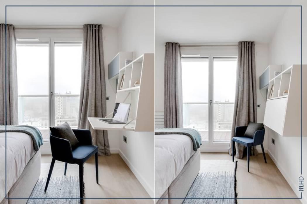 Un 63m2 en VEFA twisté à Paris: Chambre de style  par MY HOME DESIGN