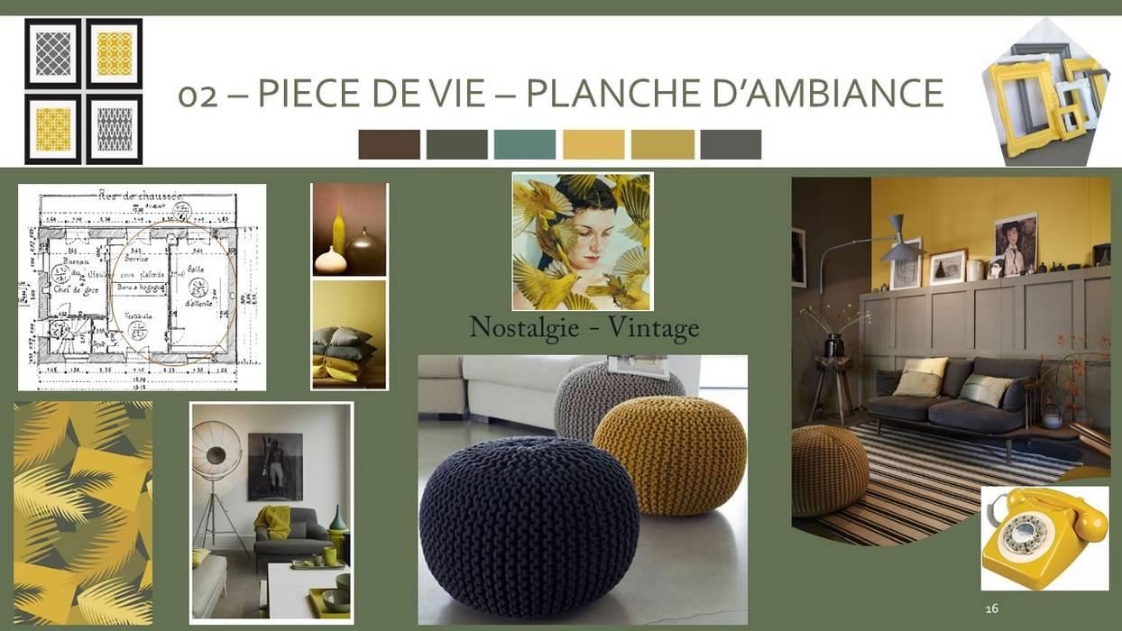 PLANCHE TENDANCE PIECE DE VIE: Salle à manger de style  par S'PACE HABITAT / S'PACE HOME DESIGN