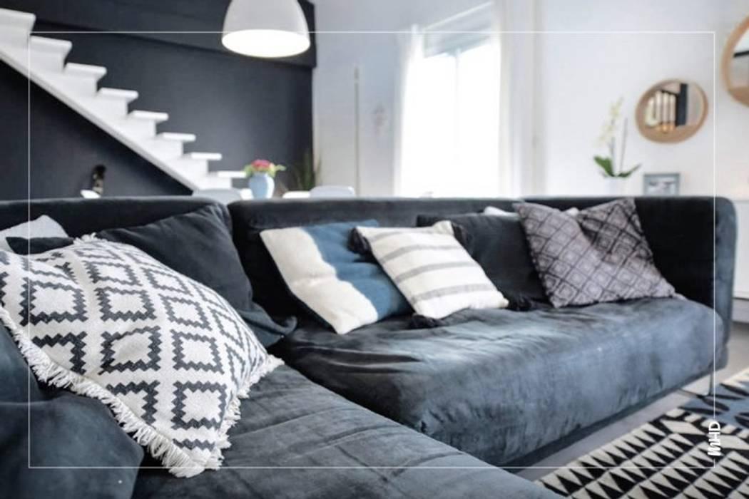Maison esprit loft au style atelier: Salon de style  par MY HOME DESIGN