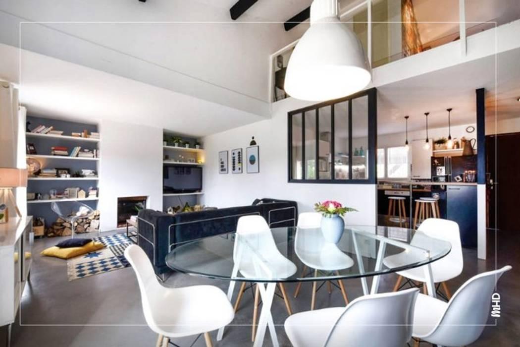 Maison esprit loft au style atelier: Salon de style de style Industriel par MY HOME DESIGN