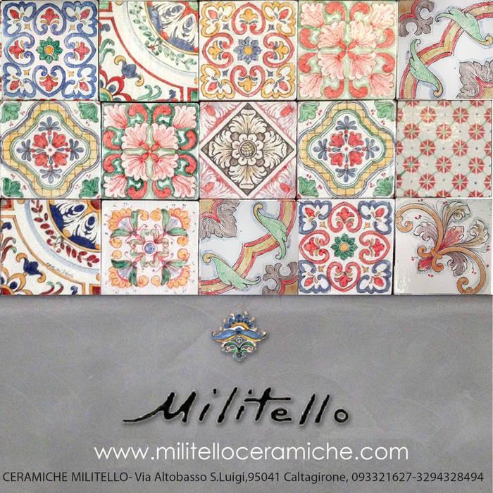 Patchwork: Pavimento in stile  di  Ceramiche Militello