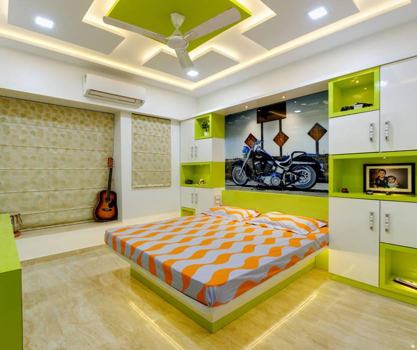 Kerala Bedroom Interior Design Colour For Bedroom Two Bed Bedroom Bedroom Wallpaper Colours: Kids Room Interior: Bedroom By Kumar Interior Thane