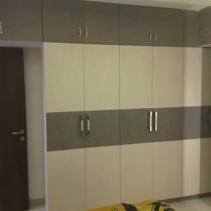 walldrop design KUMAR INTERIOR THANE Modern style bedroom Grey