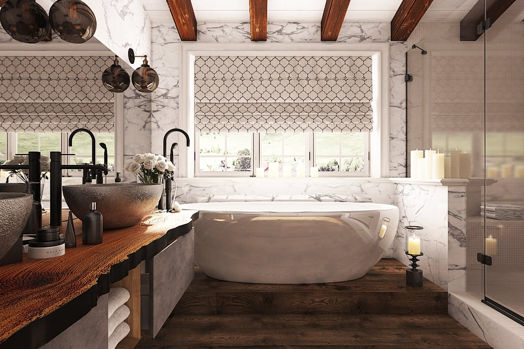 Mediterrane badezimmer von diveev_studio#zi | homify