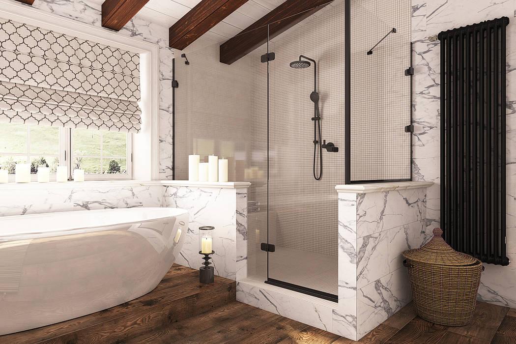 Ванная комната в стиле шале: Ванные комнаты в . Автор – Diveev_studio#ZI,