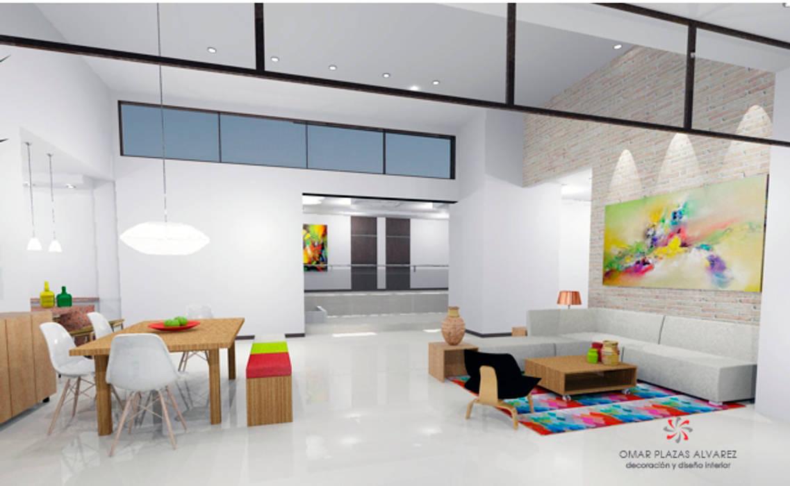 Salas moderna de Omar Interior Designer Empresa de Diseño Interior, remodelacion, Cocinas integrales, Decoración