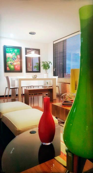 sala comedor: Comedores de estilo moderno por Omar Interior Designer  Empresa de  Diseño Interior, remodelacion, Cocinas integrales, Decoración