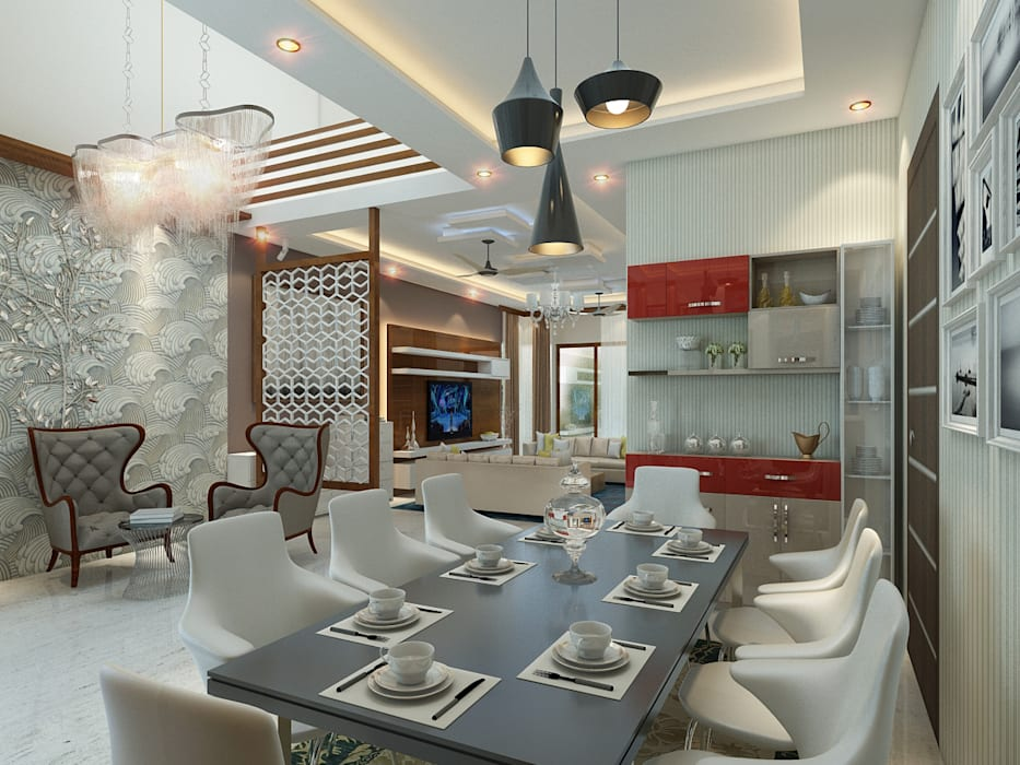 Independent Villa - Pune Modern Dining Room by DECOR DREAMS Modern