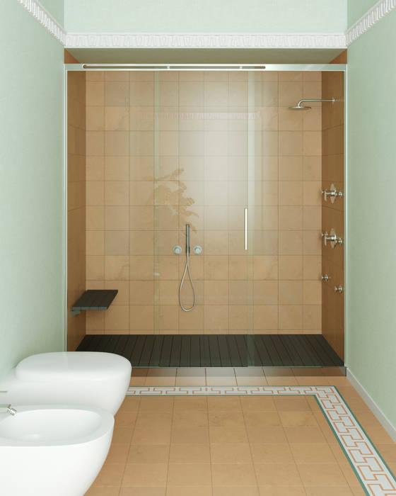 BOX DOCCIA SCORREVOLE: Bagno in stile in stile Moderno di SILVERPLAT