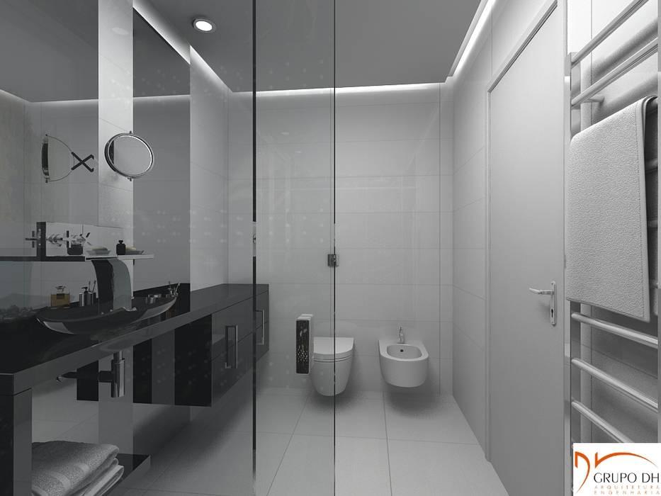 Banheiro masculino Grupo DH arquitetura BanheiroAssentos Branco