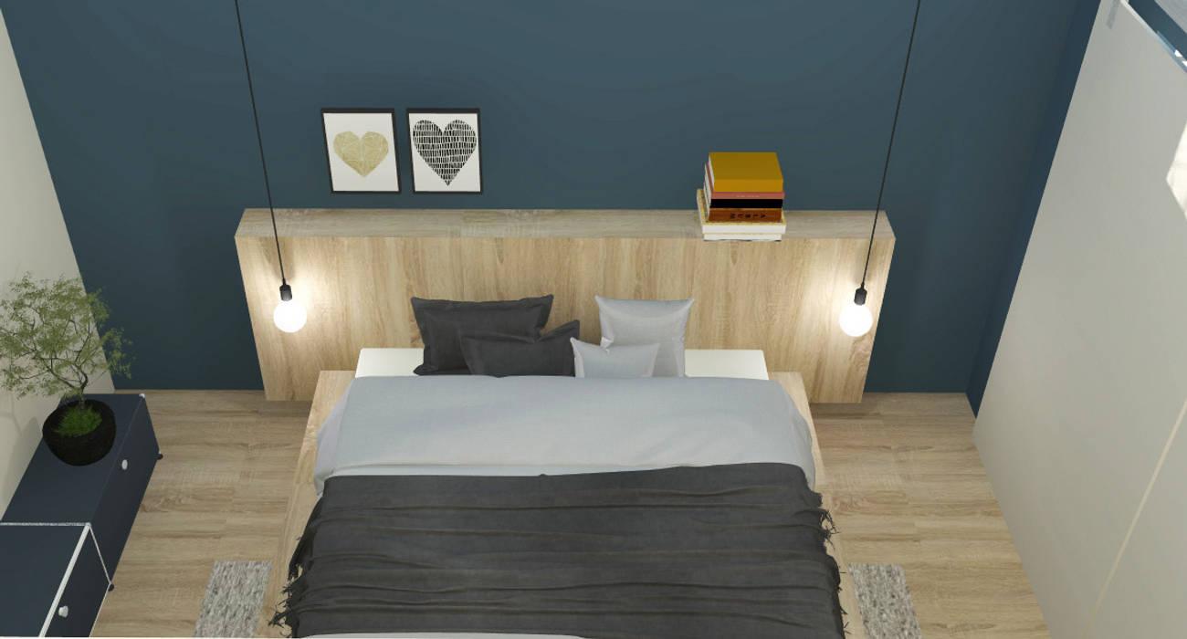 Schlafraum mit begehbarem kleiderschrank: schlafzimmer von raum und ...